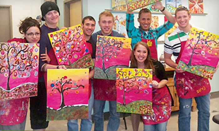 The Social Canvas - Waukee: Painting Class with Wine for One, Two, or Eight at The Social Canvas (Up to 63% Off)