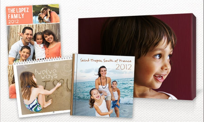 Picaboo: Canvases, Classic Photo Books, Calendars, and Collage Posters from Picaboo (Up to 61% Off). Two Options Available.
