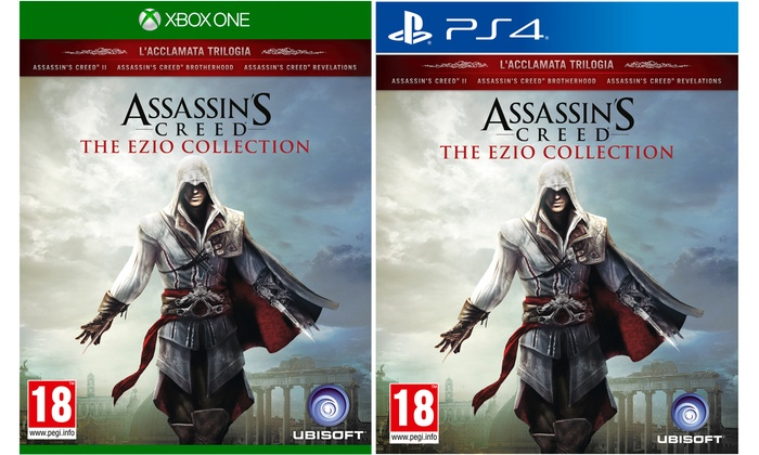 Groupon Goods Global GmbH: Assassin's Creed Ezio Collection per PS4 e Xbox One a 24,99 € (50% di sconto)