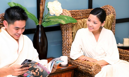 Massage with Express Facial or Couples Massage with Chocolate and Beverage at Origo Spa Lounge (Up to 62% Off)