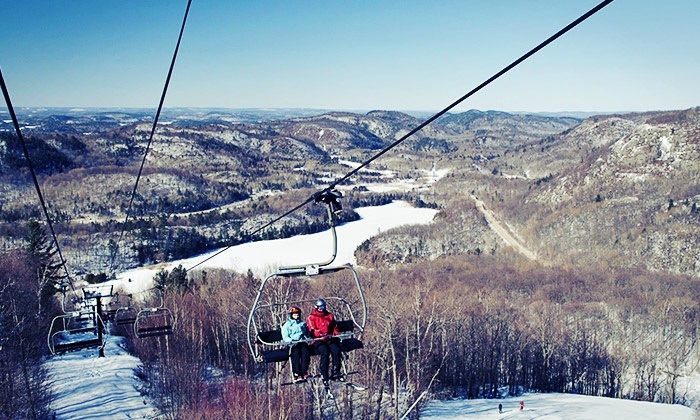 Mont Ste-Marie Ski Resort - Mont Ste-Marie: Full Day Lift Pass with Optional Ski or Snowboard Rental Package at Mont Ste-Marie Mountain (Up to 35% Off)
