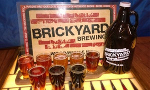 Brickyard Brewing: Beer Flights and Growler Fills for One, Two, or Four at Brickyard Brewing (Up to 53% Off)