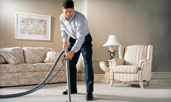 Sears Carpet & Upholstery - Marina: $49 for a Three-Room Carpet Cleaning from Sears Carpet & Upholstery ($109 Value)