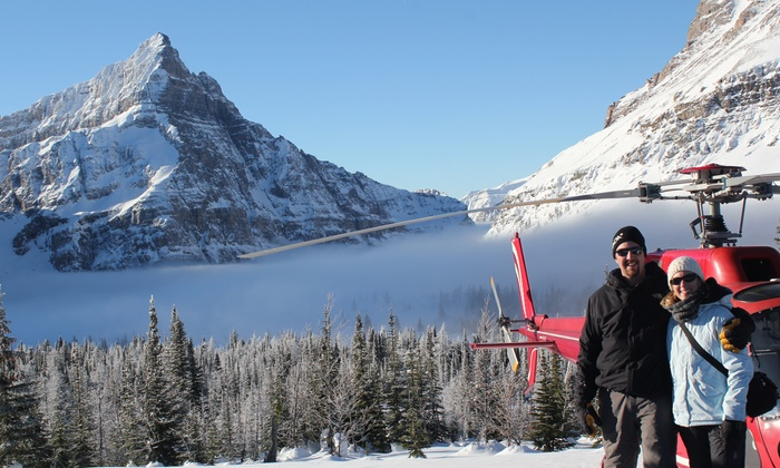 Rockies Heli Tours Icefield - Kananaskis Heliport: Romantic Helicopter Ride & Snowshoe Adventure for Two or Four from Rockies Heli Tours Icefield (Up to 56% Off)