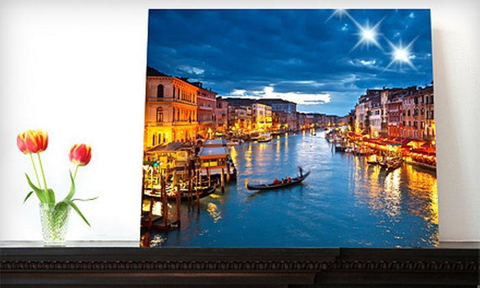 "Picture it on Canvas **NAT**: $39 for a 16""x20"" Custom Photo on Metal from Picture It On Canvas ($139 Value)."