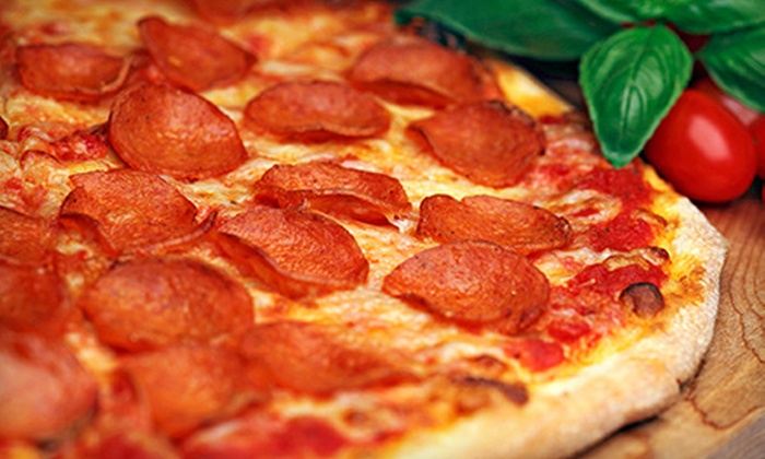 null - The Properties: Pizzeria Cuisine at Best Choice Pizza (Up to 52% Off) Two Options Available.