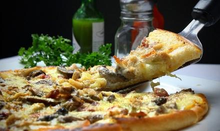 Menú de pizza para hasta 4 personas con entrante, bebida y postre desde 9,95 € en Superpizza