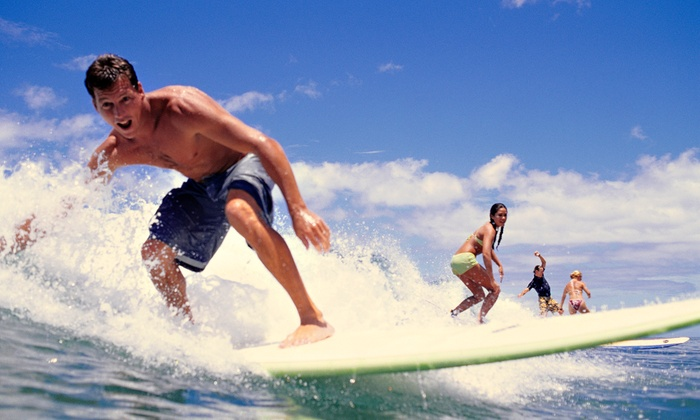MCG Surfboards  - Multiple Locations: One-Hour Surfing Lesson for One or Two or Four from MCG Surfboards (Up to 59% Off)