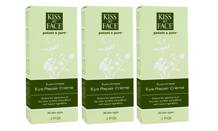 3-Pack Kiss My Face Eye Witness Eye-Repair Cream; 0.5 Fl. Oz.: 3-Pack Kiss My Face Eye Witness Eye-Repair Cream; 0.5 Fl. Oz. Each