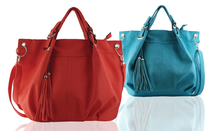 Yoki Satchel with Tassels: Yoki Satchel with Tassels. Multiple Colors Available. Free Shipping and Returns.