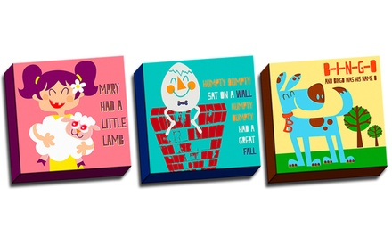 "groupon daily deal - 12""x12"" Kids' Songs Artwork on Canvas. Multiple Designs Available. Free Returns."