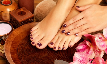 $39 for a No-Chip Manicure and Spa Pedicure with Kim or Sherri at Heidi's Salon and Spa ($86 Value)