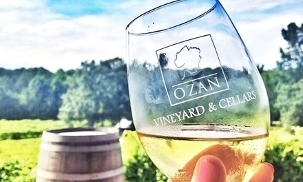 Wine Tasting for Two with Glasses and Option for Tour and Cheese Plate at Ozan Vineyard & Cellars (Up to 48% Off)