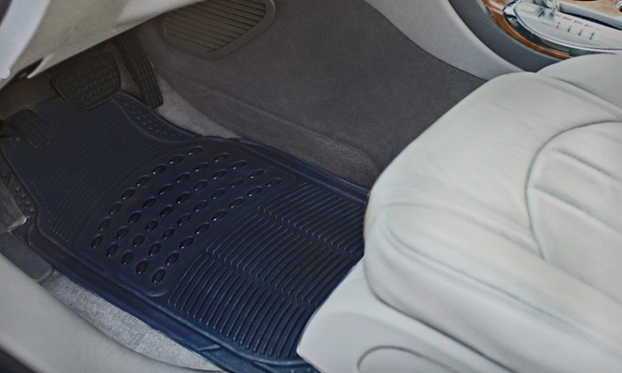 Car Essentials All-Weather Car-Mat Set: $29 for Car Essentials All-Weather Car Mats in Black, Brown/Tan, or Gray ($49.99 List Price). Free Shipping and Returns.