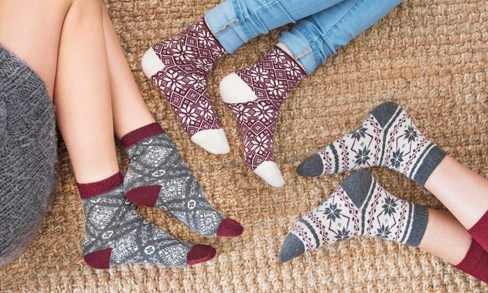 Muk Luks Women's Holiday Boot Socks (3-Pair Pack)