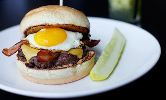 BRGR 9 - Downtown: Burgers and Sandwiches at BRGR 9 (45% Off). Two Options Available.
