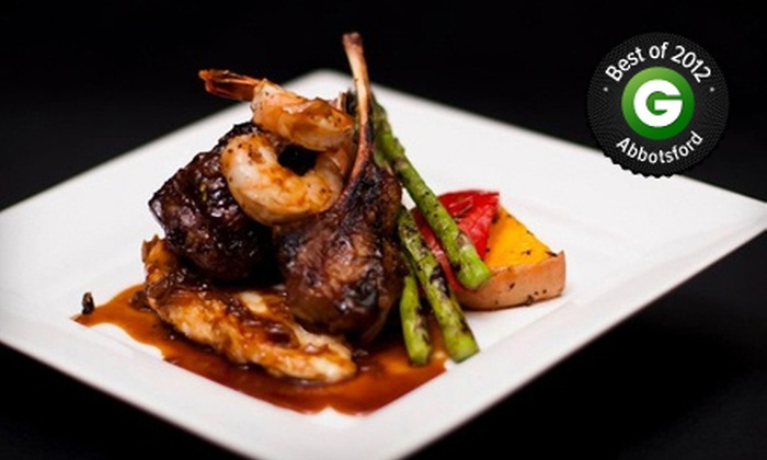 Jacksons Steak and Grill House - Chilliwack: Three-Course Prix Fixe Dinner for Two or Four at Jacksons Steak and Grill House (Up to 52% Off)