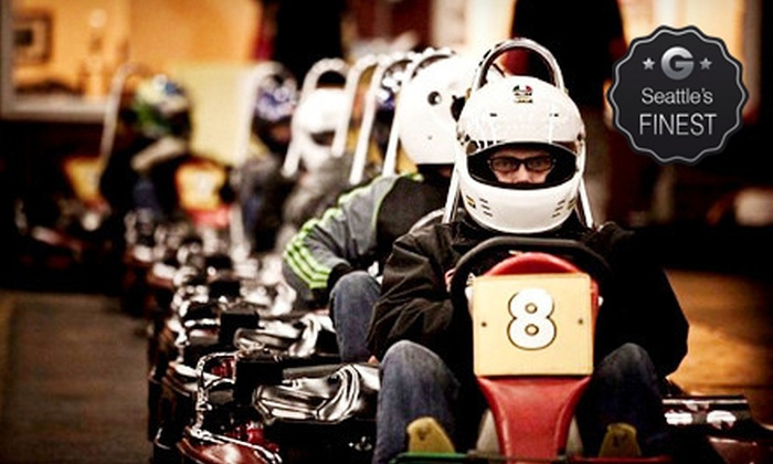 SyKart Indoor Racing Center - Tukwila: Two Go-Kart Races or a Two-Race Package for Five People at SyKart Indoor Racing Center (Up to 56% Off)