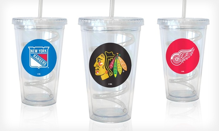 Boelter NHL Swirl Straw Tumblers: $19.99 for Two Boelter NHL Swirl Straw Tumblers ($29.98 List Price). 12 Teams Available. Free Shipping.