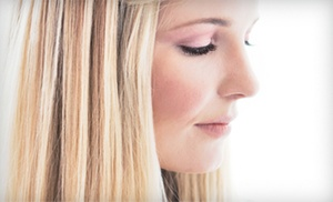 MJ Evans Beauty at LOLAMAX Salon: $59 for Haircut, Partial Foil, and Deep-Conditioning at MJ Evans Beauty at LOLAMAX Salon 54 (Up to $160 Value)