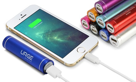 Urge Basics 2,000 or 2,600 mAh Portable USB Battery Charger