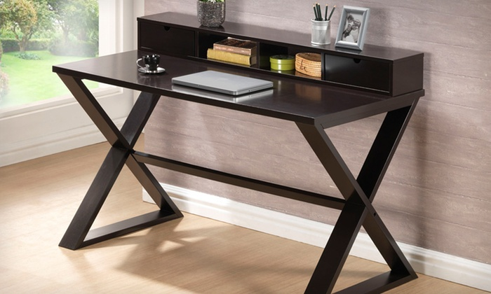 Modern Brown Office Desks: Modern Brown Office Desks (Up to 53% Off). Multiple Styles Available.