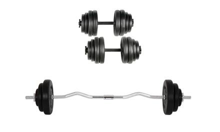 Curlstange-Set 20 kg oder Kurzhantel-Set 30 kg