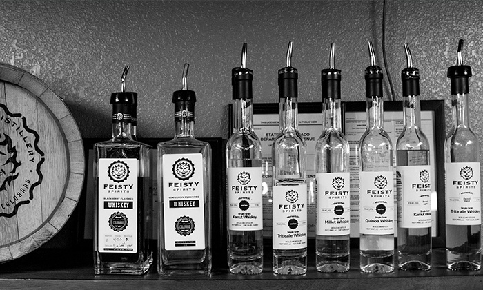 Feisty Spirits - Fort Collins: Craft Whiskey Tasting and Distillery Tour for Two, Four, or Six at Feisty Spirits (Up to 54% Off)