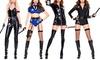 Music Legs Women's Sensual Police Costume