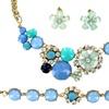 Bella Del Mar Crystal Flower Necklace, Bracelet, and Earring Set