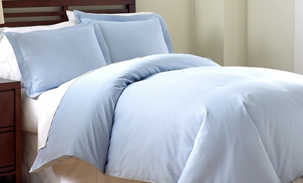 Fine Linens by PCT 800 TC Damask Stripe Queen or King 3-Piece Duvet Cover Set from $59.99–$69.99. Free Returns.