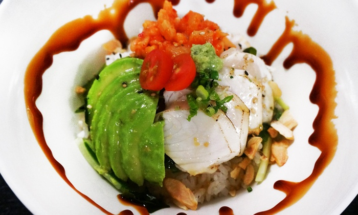 Sushi Wrap - Cow Hollow: $12 for $20 Worth of Sushi Bowls & Wraps for Lunch for Lunch at Sushi Wrap