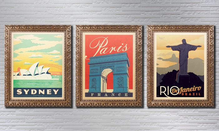 Vintage-Style Travel Posters | Groupon Goods