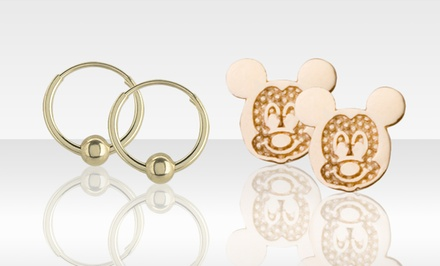Disney Jewelry in 14K Gold. Multiple Styles Available from $19.99–$29.99.
