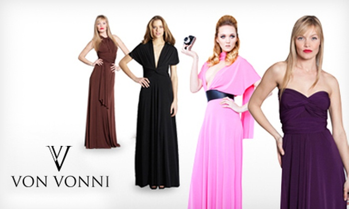 Von Vonni: $59 for a Long or Short Transformer Dress from Von Vonni ($120 Value). Choose from Seven Colors.