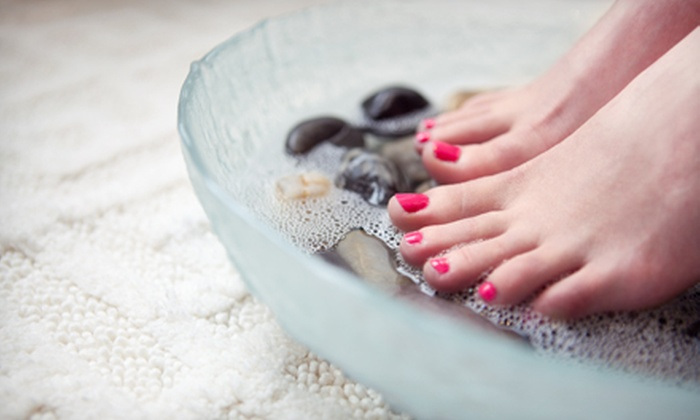 Michelle Salon & Spa - Villages Of Langham Creek: Éminence Organic Shellac Manicure with Optional Éminence Organic or Spa Pedicure at Michelle Salon & Spa (Up to 58% Off)