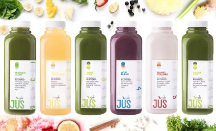 One or Two Three-Day Juice Cleanses with Shipping Included, or $35 for $70 Worth of Fresh Juice at Jus by Julie