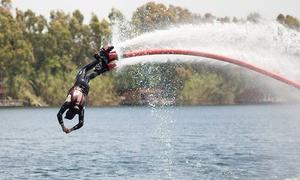 Flyboarding Ecoparco del Mediterraneo: Flyboard e in più noleggio pedalò o canoa nell'Ecoparco del Mediterraneo