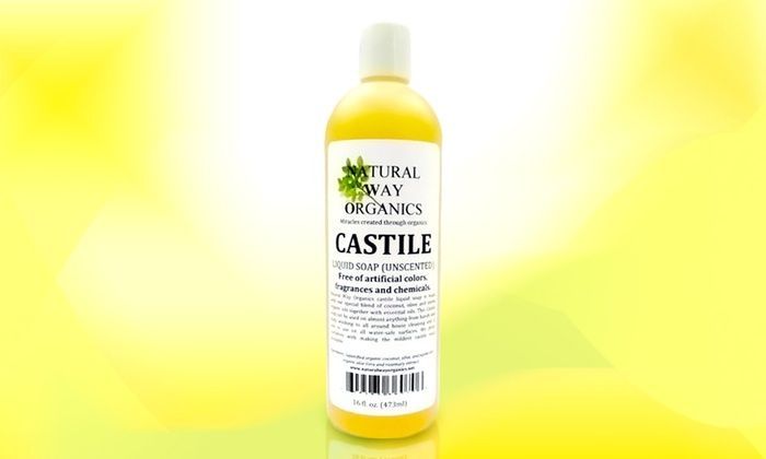 Natural Way Organics Castile Unscented Soap: Natural Way Organics Unscented Castile Liquid Soap; 16 Fl. Oz.