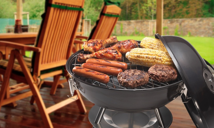 """Cuisinart 14"""" Charcoal Grill: Cuisinart 14"""" Charcoal Grill in Red or Black. Free Shipping."""
