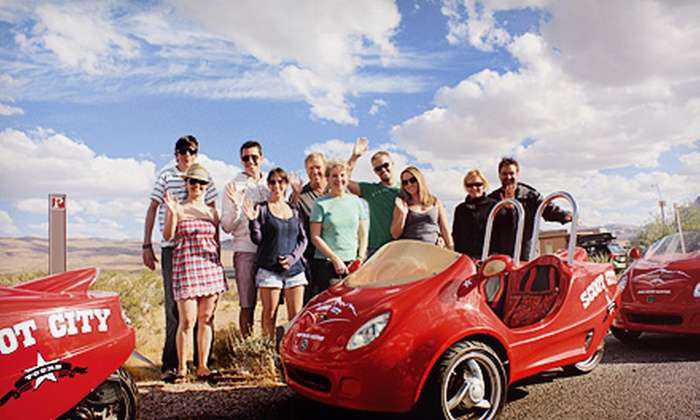 Scoot City Tours - Las Vegas: $125 for a Scooter Tour for Two of Downtown and the Strip or Red Rock Canyon from Scoot City Tours ($250 Value)