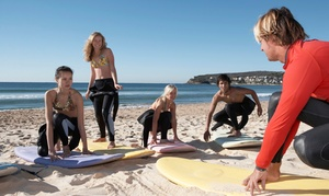 Clint Carroll Surf School: Surfing or Standup-Paddleboarding Lesson at Clint Carroll Surf School (Up to 69% Off). Five Options Available.