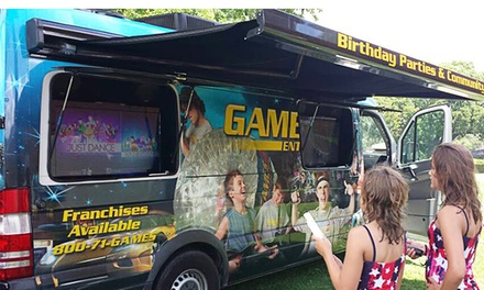 $199 for 90-Minute Mobile Party with Up to Two Game Coaches from Games2U ($299 Value)