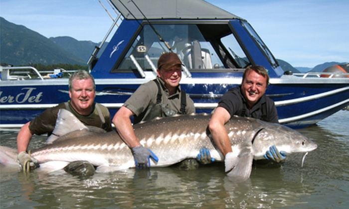 Swiftwater Guiding - Lower Sumas Mountain: Four-Hour Sturgeon-Fishing Trip for Two or Four from Swiftwater Guiding (Half Off)