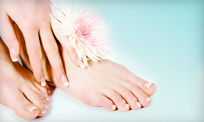 The Powder Room - Brandon: One or Two Basic Mani-Pedis at The Powder Room (Up to 53% Off)