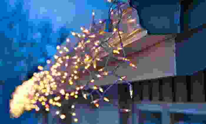 All Metro Construction - at the customers home: Christmas-Light Installation for a One- or Two-Story Home from All Metro Construction (Up to 54% Off)