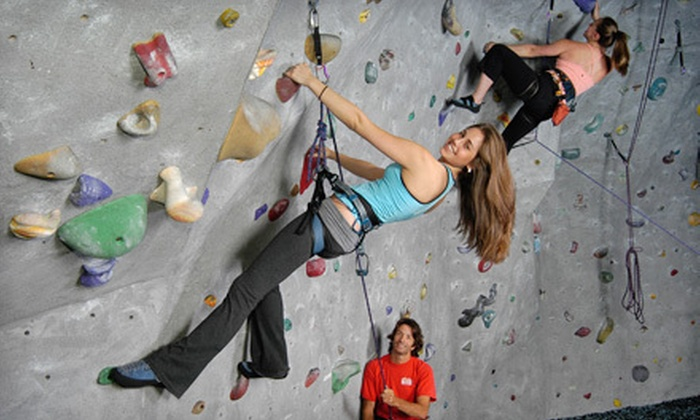 Atlanta Rocks! - Midtown: Novice Climb Package for Two or Intro Class with Five-Visit Punch Card at Atlanta Rocks! (Up to 64% Off)