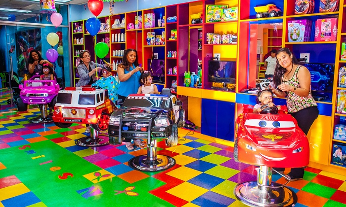 Children 39 s dry haircuts smiles n styles groupon for Childrens hair salon