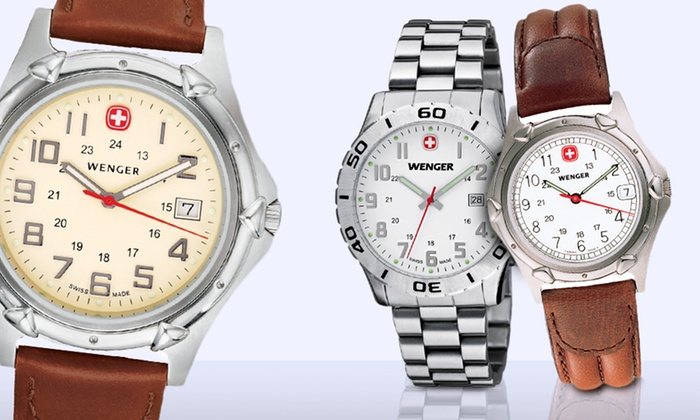 Wenger Men's and Women's Watches: Wenger Men's and Women's Watches. 14 Options from $89.99–$119.99. Free Returns.