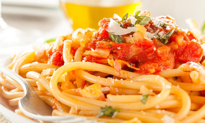 Cafe Toscano - Village Commerce Center: Dine-In or Carryout Café-Style Italian Cuisine at Cafe Toscano (40% Off). Three Options Available.